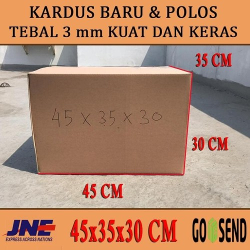 Foto Produk kardus karton polos uk 45x35x30 dari sultankardus