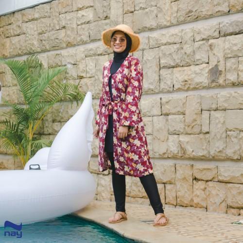 Foto Produk Zinnia Outer/Cardigan (Motif 002 MAROON) dari Nay Sportswear