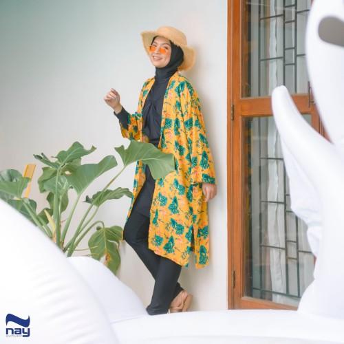Foto Produk Peony Outer/Cardigan (MOTIF 003 Mustard) dari Nay Sportswear