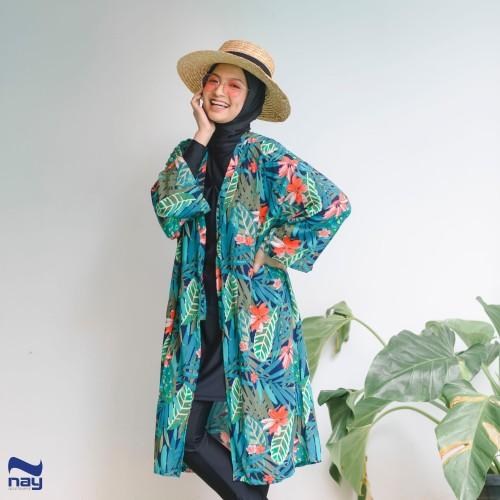 Foto Produk Peony Outer/Cardigan (MOTIF 002 Hijau) dari Nay Sportswear