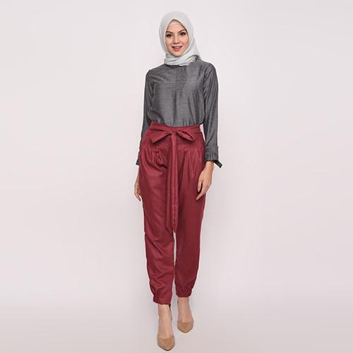 Foto Produk Heaven Sent - Celana Wanita Muslim Terbaru Zaina Maroon dari Heaven Sent Official