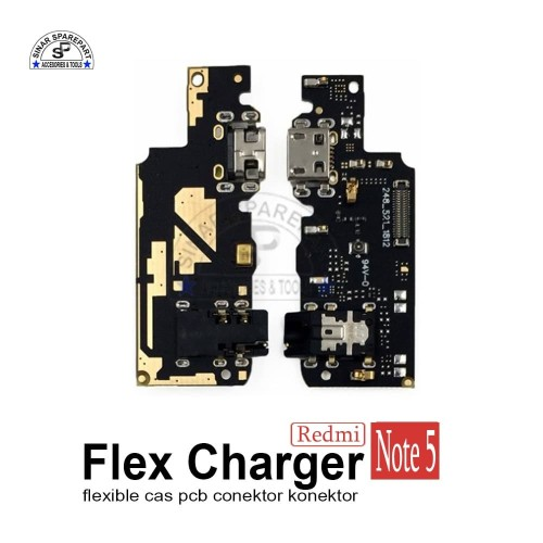 Foto Produk XIAOMI REDMI NOTE 5 FLEXIBLE CAS PCB CONEKTOR Charger KONEKTOR CAS dari SinarSP