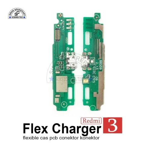 Foto Produk XIAOMI REDMI 3 FLEXIBLE CAS PCB CONEKTOR Charger KONEKTOR CAS dari SinarSP