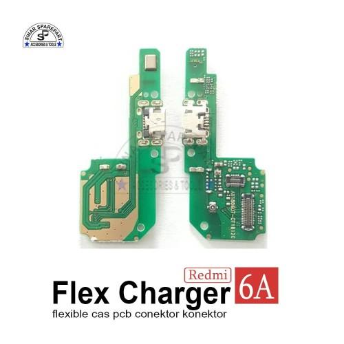 Foto Produk XIAOMI REDMI 6A FLEXIBLE CAS PCB CONEKTOR Charger KONEKTOR CAS dari SinarSP