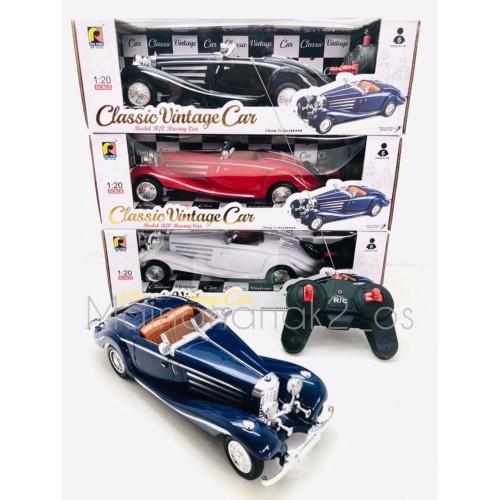 Foto Produk MOBIL REMOTE KONTROL CLASSIC VINTAGE CAR 1:20 RC MAINAN MOBIL KLASIK - Hitam dari Mainananak2_os
