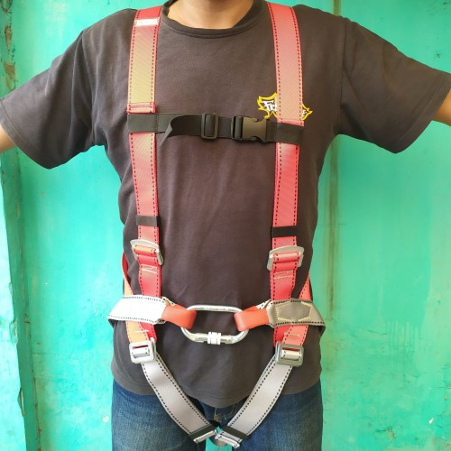Foto Produk Body Harness Climbing Rescue Safety Flyingfox Outbond Work at Height dari radzatama outdoor sport