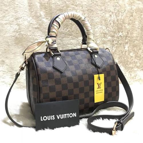 Foto Produk tas wanita cewek murah selempang branded batam import L*V BANDO DAMIER dari sopaybags