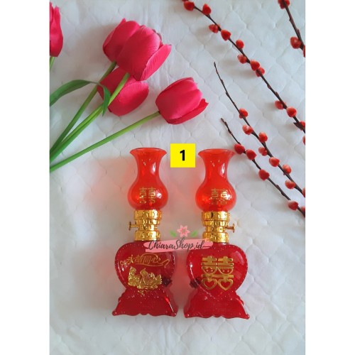 Foto Produk Lampu Sangjit Baterai / Lampu Wedding / Lampu Merah Sangjit Love dari Chiarashop_id