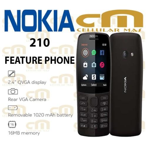 Foto Produk Nokia 210 ORIGINAL GARANSI RESMI NOKIA - Hitam dari Cellular Mas