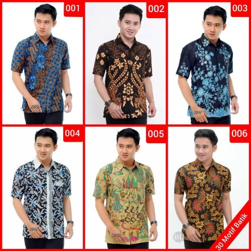 Foto Produk Kemeja Batik Pria Murah Lengan Pendek   Baju Batik Pria   Kemeja Pria dari couplebatikpekalongan