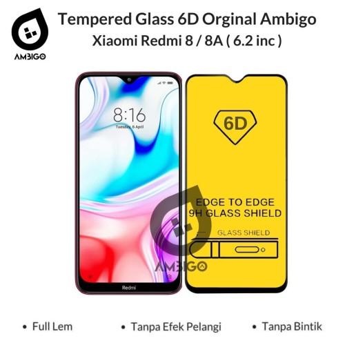Foto Produk Tempered Glass 6D Xiaomi Redmi 8 8A Full Cover Color Ambigo - Hitam dari Jagonya Case