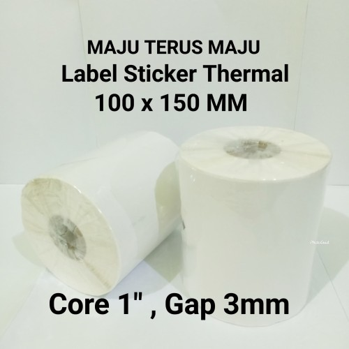 "Foto Produk Label Sticker Barcode 100x150mm Thermal (10cmx15cm isi 250pcs Core 1"") dari Maju Terus Maju"