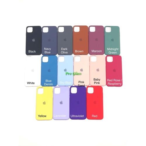 Foto Produk C201.5 Iphone 11 PRO MAX FULL Apple Silicon Leather Case Silicone dari Pro Glass