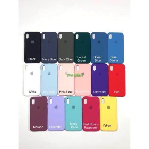 Foto Produk C201.5 Iphone X / XS Original FULL Apple Silicon Leather Case Silicone dari Pro Glass
