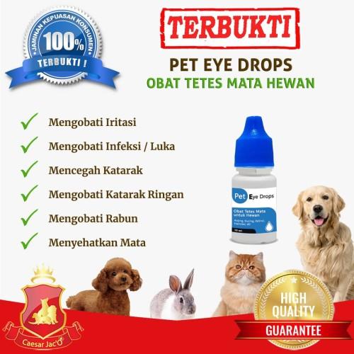 Foto Produk Obat Tetes Mata - Luka - Katarak - Anjing Kucing Kelinci Hewan Alami dari Caesar Jac'O