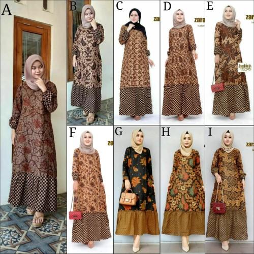 Foto Produk Gamis Batik / Gamis Zara / Dress Batik / Geser ya dari ILUL SY BATIK