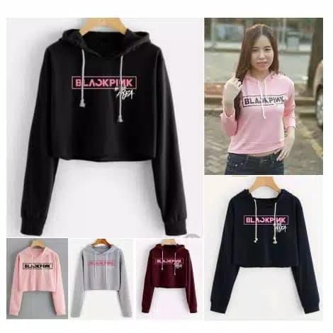 Foto Produk baju sweater hoodie blackpink Korea jepang black pink anak anak remaja dari BELL'S BOUTIQUE