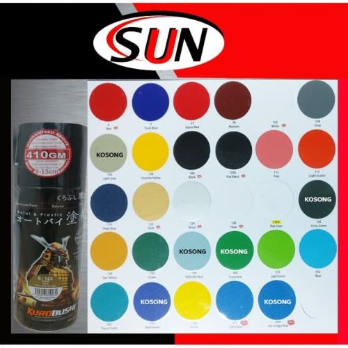 Foto Produk Pilox Samurai 400 ml Pilok Silver Gold Black Flat White red Clear dari Sun Hardware
