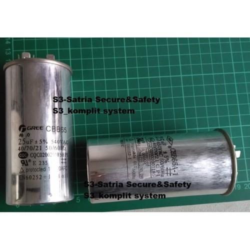 Foto Produk KAPASITOR AC 25 uf kapasitor botol 450V 25uf kondensor elco dari flipper