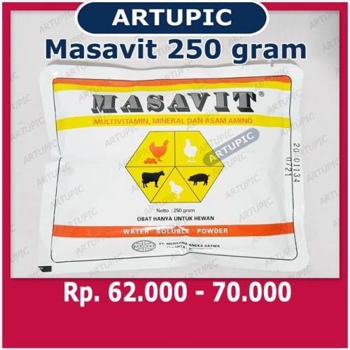 Foto Produk MASAVIT 250 Gram Multivitamin Asam Amino Mineral Unggas Ayam Sapi Babi dari ArtupicPeralatanPeternak