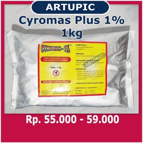 Foto Produk CYROMAS 1% PLUS 1 kg Obat Pengendali Lalat Larva Pengering Kotoran dari ArtupicPeralatanPeternak