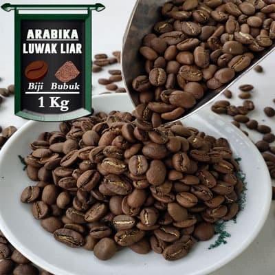 Foto Produk Kopi Arabika Gayo Luwak Liar 1 Kg - Bubuk Halus, AZA Label dari Azacoffee