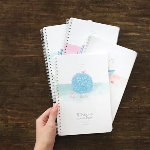 Foto Produk Dreams Come True Spiral Ruled Notebook B5 / Buku Catatan B5 / Buku B5 dari Pinkabulous