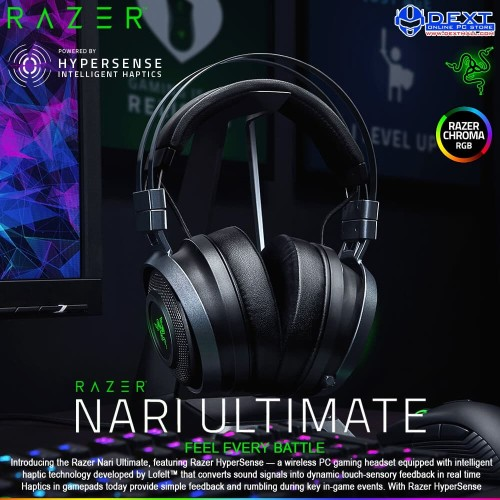 Foto Produk Razer Nari Ultimate Wireless PC Gaming Headset dari DextMall