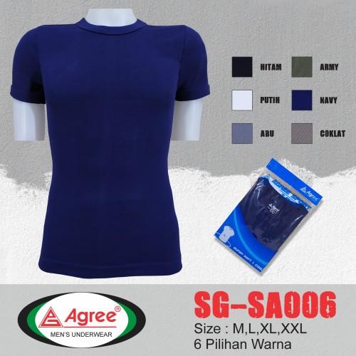 Foto Produk Kaos Oblong Pria Agree | Kaos Dalam Pria | T-shirt - Hijau, M dari fathanstore