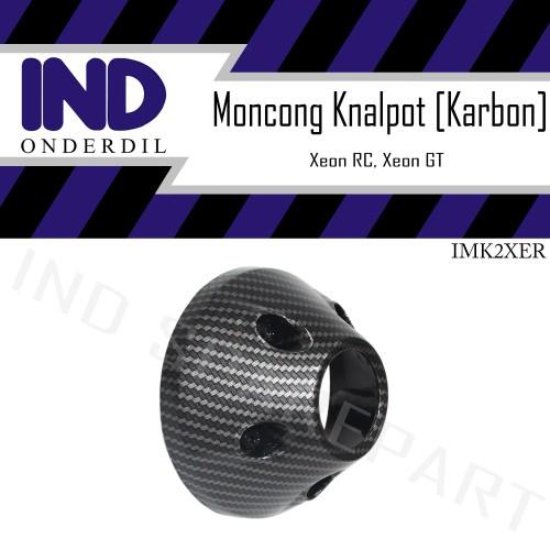 Foto Produk Tutup-Cover-Pelindung Ujung-Moncong Knalpot Karbon-Carbon Xeon RC-GT dari IND Onderdil