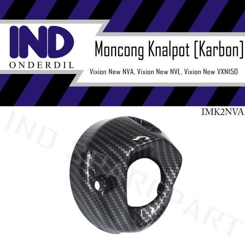 Foto Produk Tutup-Cover Ujung-Moncong Knalpot Karbon-Carbon Vixion New NVA-NVL-VXN dari IND Onderdil