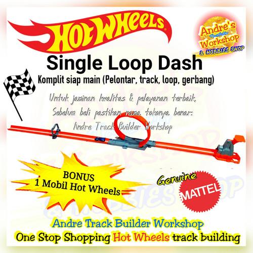 Foto Produk Hotwheels track Single Loop Dash ori Mattel Hot Wheels track komplit dari AndreTrackBuilderWorkshp