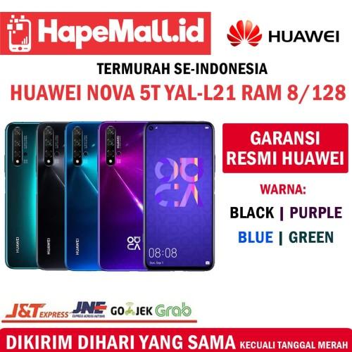 Foto Produk HUAWEI NOVA 5T RAM 8/128GB GARANSI RESMI HUAWEI INDONESIA TERMURAH - Biru dari Hapemall.id