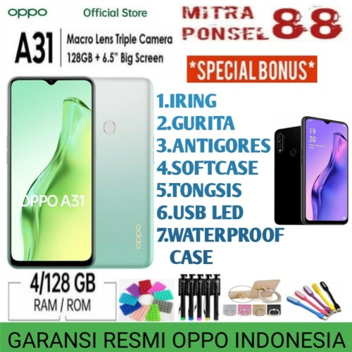 Foto Produk OPPO A31 RAM 4/128 GARANSI RESMI OPPO INDONESIA - Hitam dari Mitra Ponsel 88