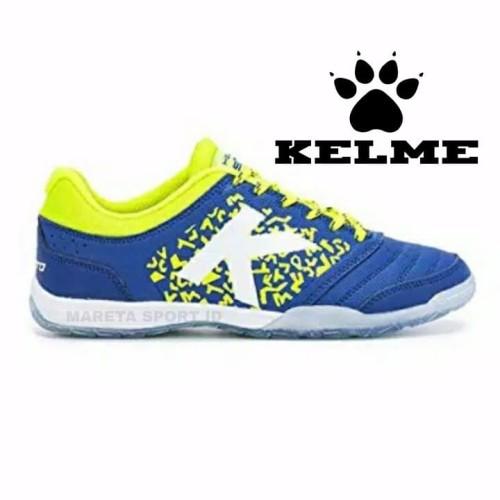 Foto Produk Sepatu Futsal Kelme Subito 6.0 Biru Kuning Termurah PASTI ORI dari mareta.corp