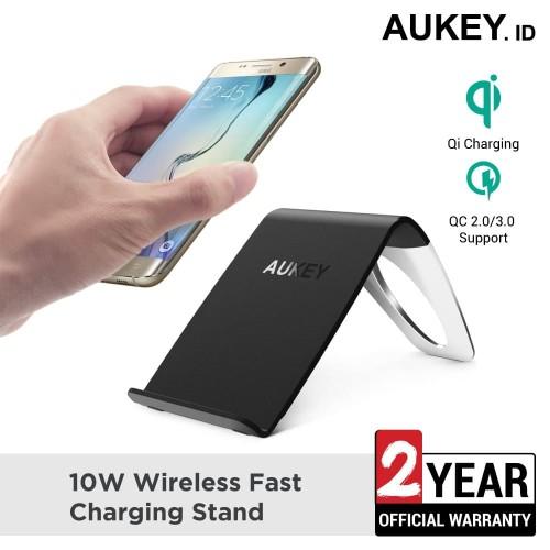 Foto Produk Aukey Wireless Charger 10W Fast Charging Stand - 500411 dari Aukey Surabaya