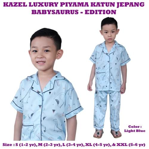 Foto Produk Kazel - Luxury Piyama Katun BABYSAURUS EDITION - LARGE dari Chubby Baby Shop