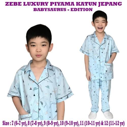 Foto Produk Zebe - Luxury Piyama Katun Jepang BABYSAURUS Edition - SIZE 8 dari Chubby Baby Shop