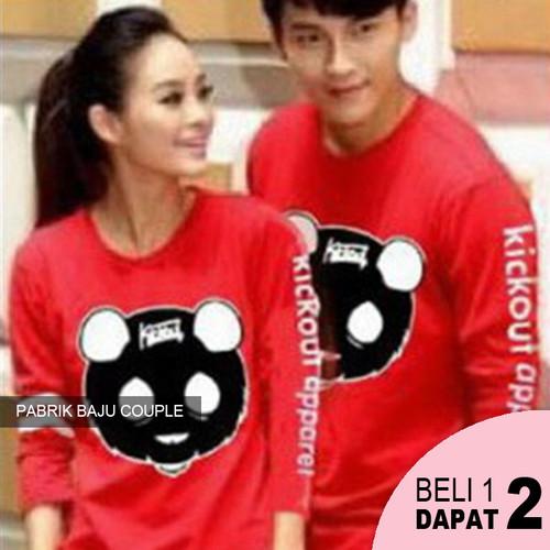 Foto Produk Kaos Couple Kickout Apparel Duo Combo LP - MERAH dari Pabrik Baju Couple