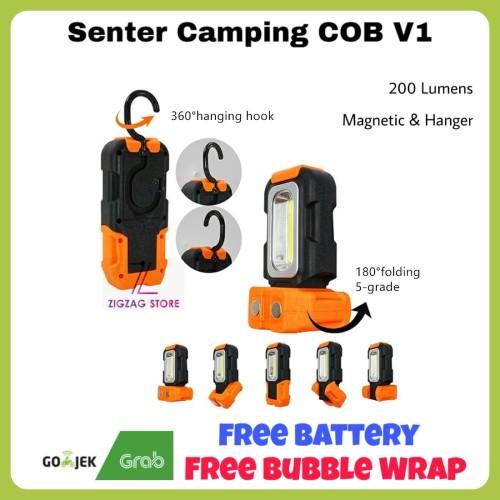 Foto Produk Senter Lentera Camping COB / Senter Magnetic Lentera Gantung COB - Orange dari ZigZag-Store