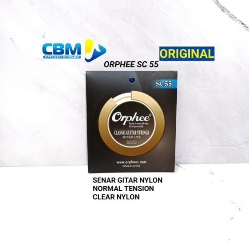 Foto Produk SENAR GITAR NYLON ORPHEE SC 55 NORMAL TENSION CLEAR SENAR ORPHEE dari CBM Music & Sound Store