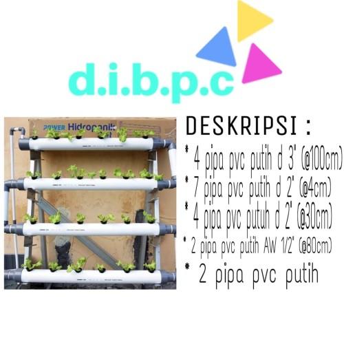 Foto Produk Hidroponik Hydroponic Pipa Pralon Tanaman POWER (Set) dari DIBPC