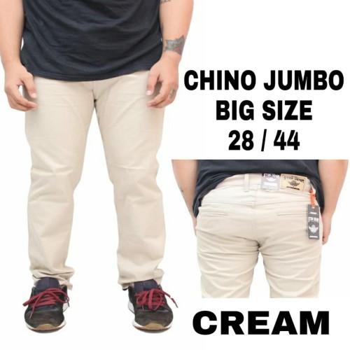 Foto Produk celana chino panjang pria big size jumbo terbaru premium - Cream dari playjeans