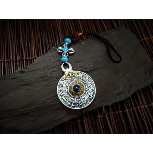 Foto Produk Liontin Tibet Kuningan Roda Kehidupan Keberuntungan 40x40mm dari Lunar Bless Gallery