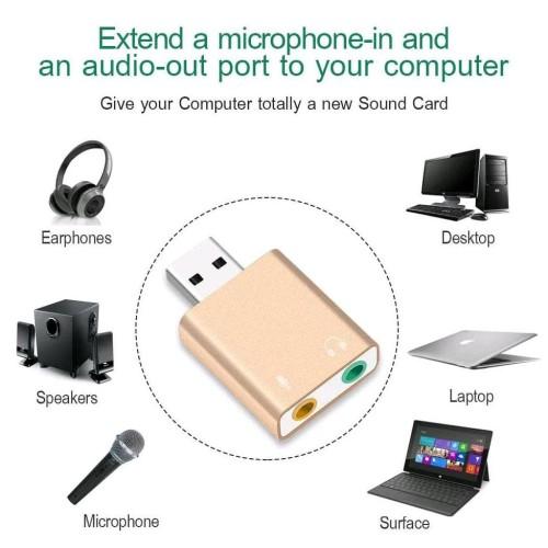 Foto Produk External Usb Sound Card 3D Audio 7.1 dari Pakuan Strike