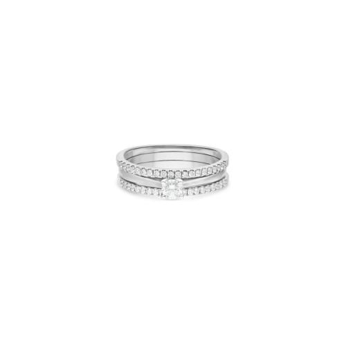 Foto Produk Cincin Tunangan Solitaire 0.20 ct & Double Ring IMLR867825/ 867818 dari Swan Jewellery Online