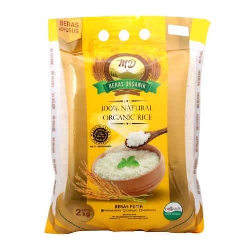 Foto Produk MD - Organic White Rice (Pandan Wangi) 2kg - Beras Sehat - Pulen dari Jagapati