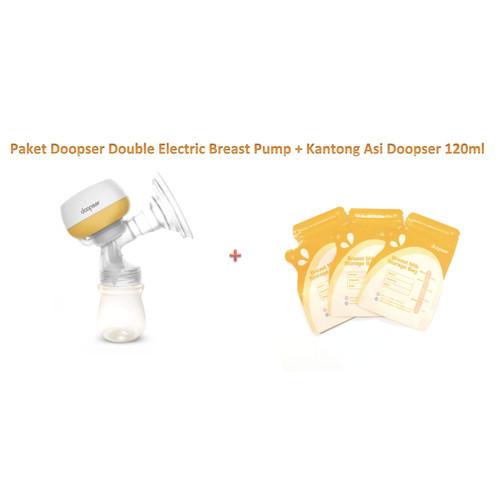 Foto Produk PD02 Paket DOOPSER Electric Breast Pump Pompa Asi + Kantong Asi GABAG dari bobo baby shop