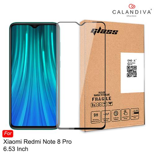 Foto Produk ONE-X Full Cover Tempered Glass Xiaomi Redmi Note 8 Pro (6.53 inches) - Hitam dari Calandiva Official Store
