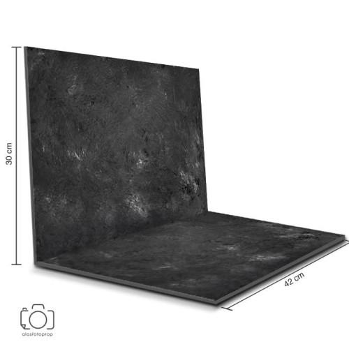 Foto Produk Alas Foto Lipat Semen Hitam 42x30cm / Background Foto Produk (CL-06) dari alasfotoprops